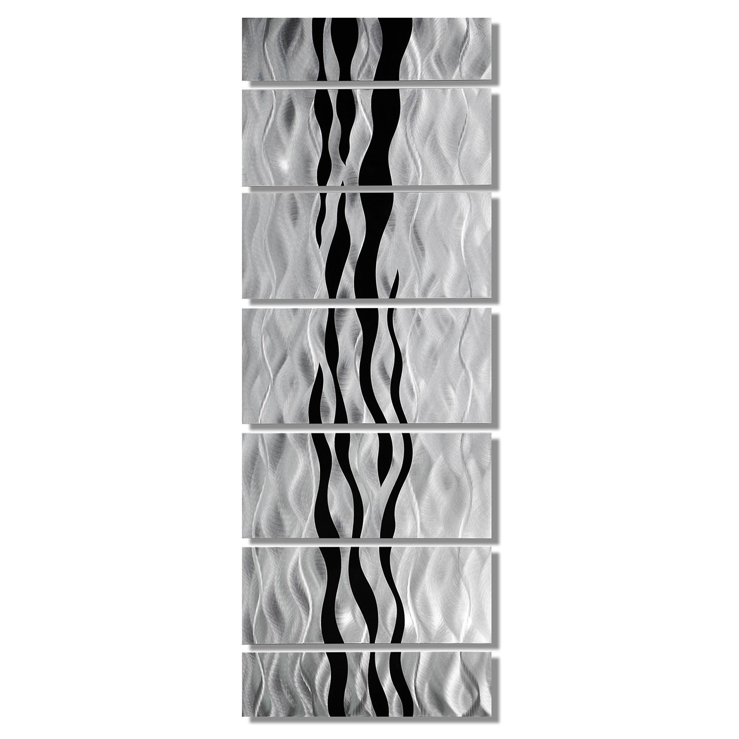 Wild Ways – Silver And Black Modern Metallic Wall Hanging Throughout Black Silver Wall Art (Image 20 of 20)