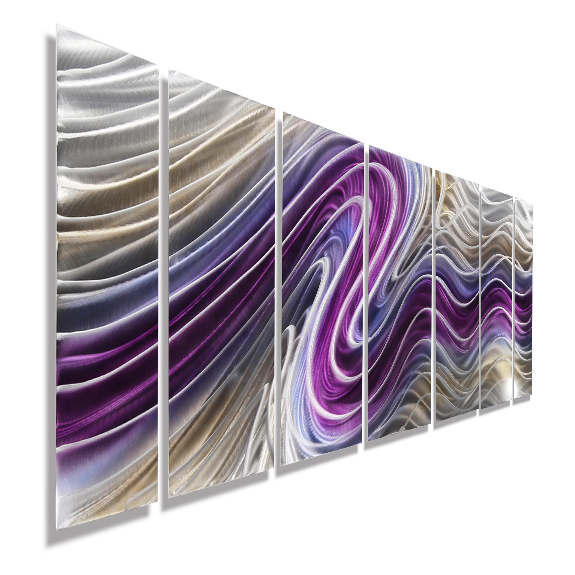 """Wildest Dreamsjon Allen – 68"""" X 24"""" Inside Purple Abstract Wall Art (View 4 of 20)"""