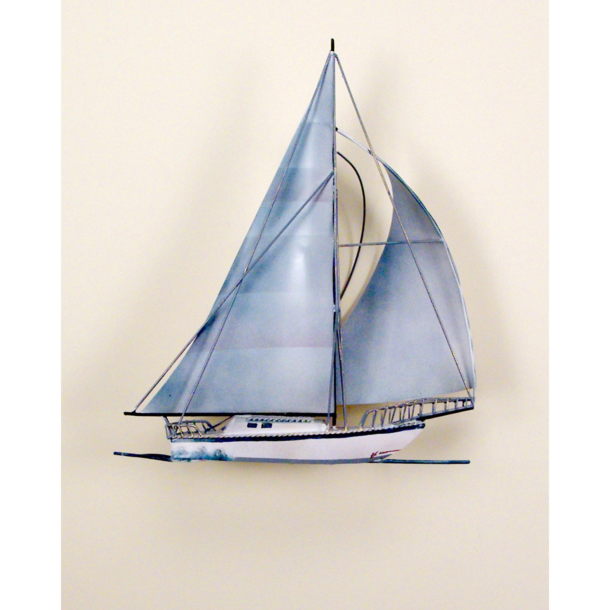 Windjamer Sailboat, Single, Ocean, Boat, Nautical, Sailing Pertaining To Metal Sailboat Wall Art (View 4 of 20)