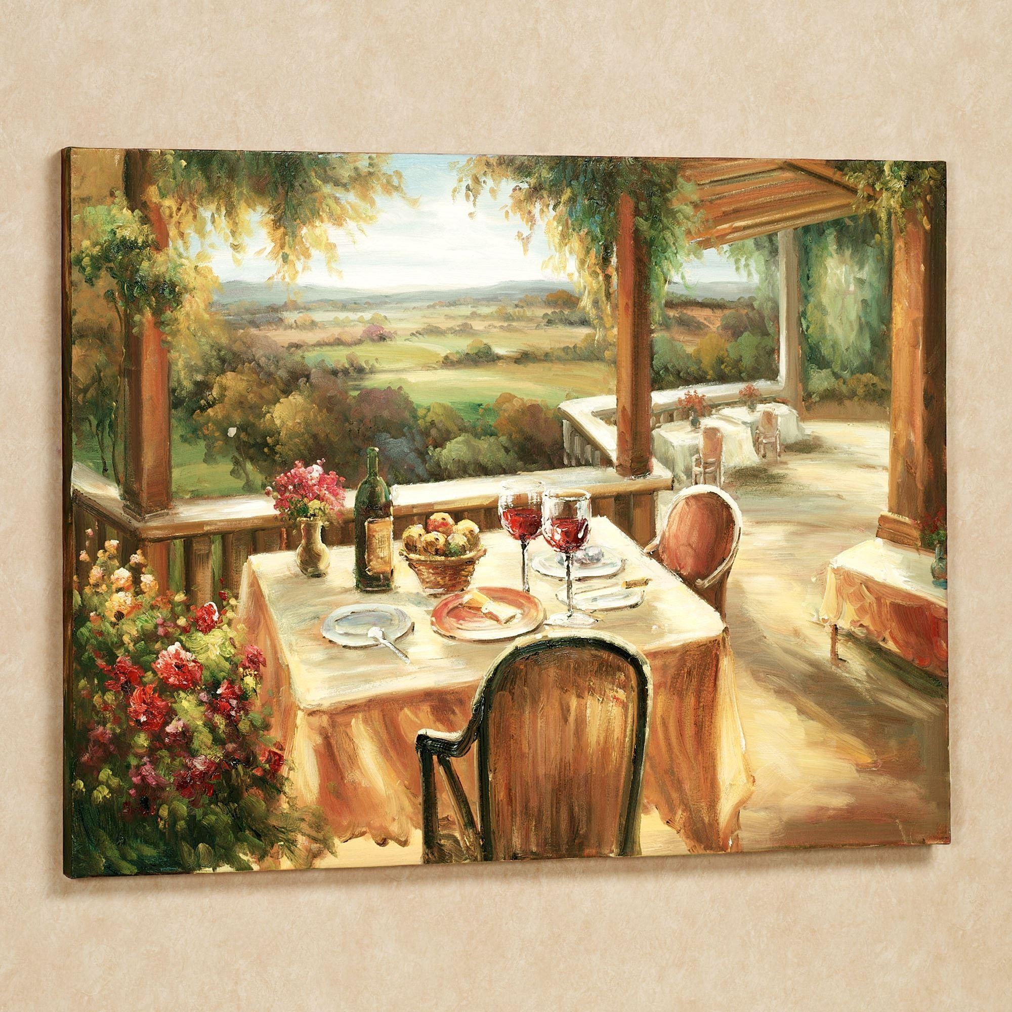 Wine And Dine Canvas Wall Art For Tuscany Wall Art (Image 20 of 20)