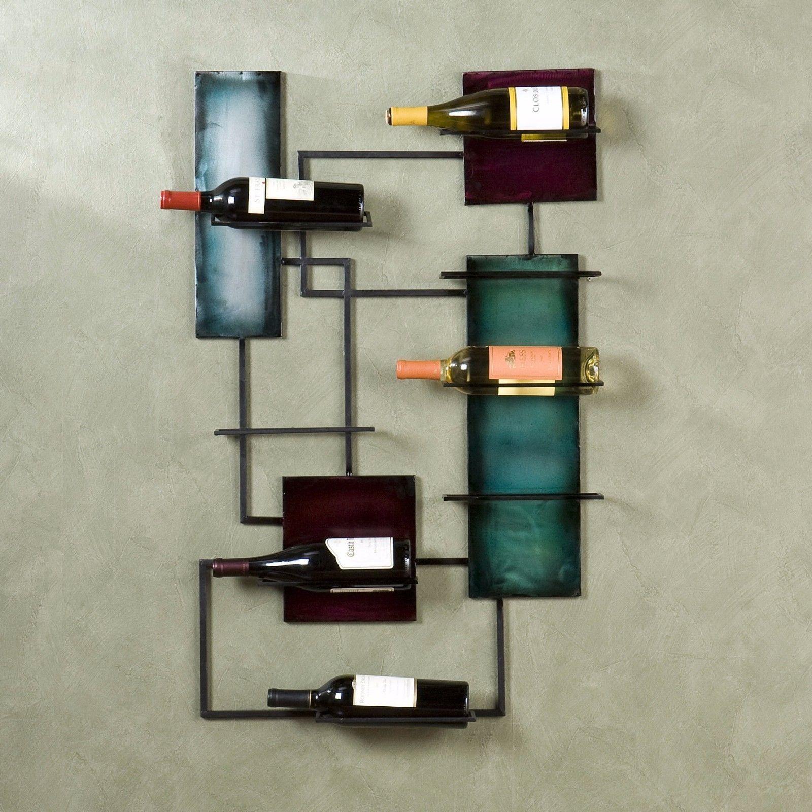 Wine Bottle Garden Metal Wall Art Decor Sculpture Scene Gift Regarding Wine Metal Wall Art (View 18 of 20)