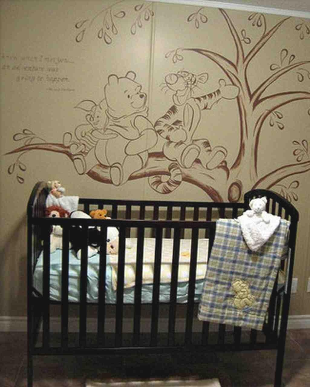 20 ideas of winnie the pooh wall art for nursery wall for Classic pooh nursery mural