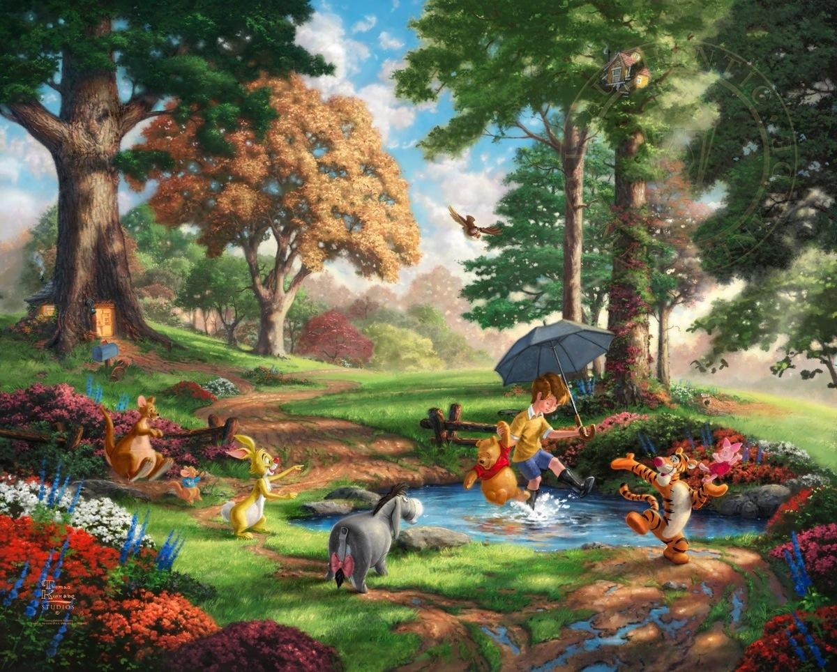 Winnie The Pooh I – Limited Edition Art | The Thomas Kinkade Company Throughout Classic Pooh Art (Image 17 of 20)