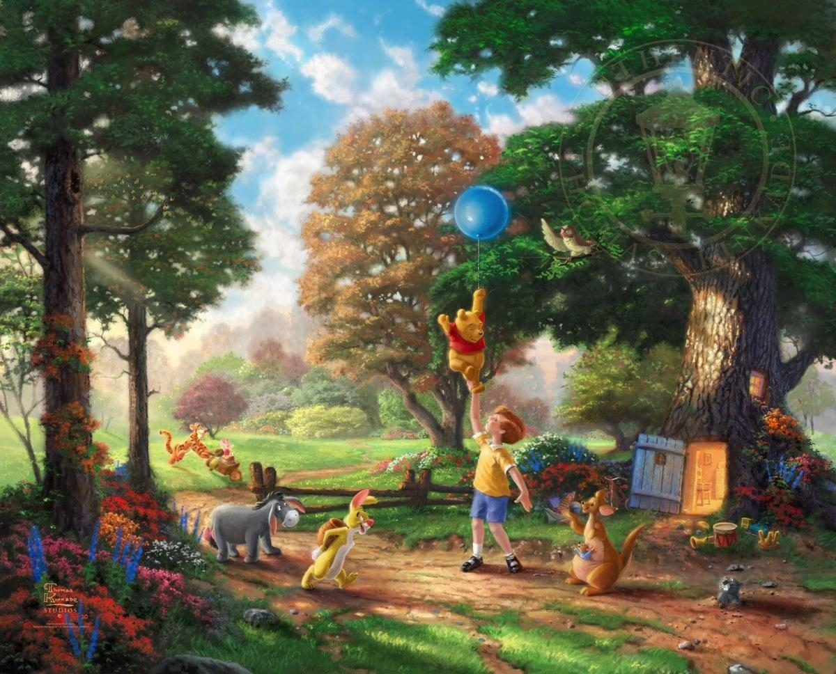 Winnie The Pooh Ii – Limited Edition Art | The Thomas Kinkade Company In Classic Pooh Art (Image 18 of 20)