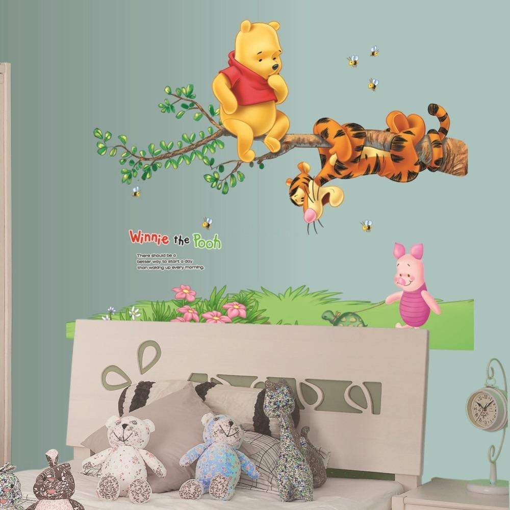 Winnie The Pooh Tigger Piglet Tree Wall Stickers Home Decor Throughout Winnie The Pooh Wall Art For Nursery (Image 18 of 20)