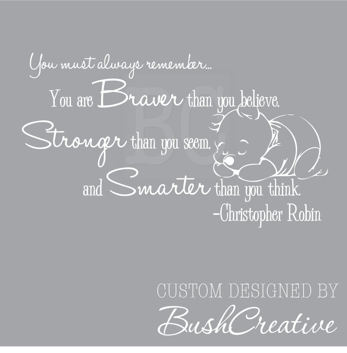 Winnie The Pooh Wall Decal Christopher Robin Nursery Quote You Pertaining To Winnie The Pooh Nursery Quotes Wall Art (Image 18 of 20)