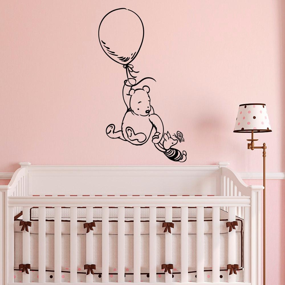 Winnie The Pooh Wall Decal Sticker Classic Winnie The Pooh With Regard To Winnie The Pooh Nursery Quotes Wall Art (Image 19 of 20)