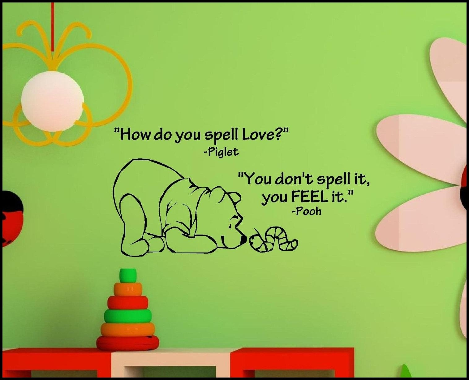 Winnie The Pooh Wall Decals | Home Decorations Ideas With Winnie The Pooh Nursery Quotes Wall Art (View 12 of 20)