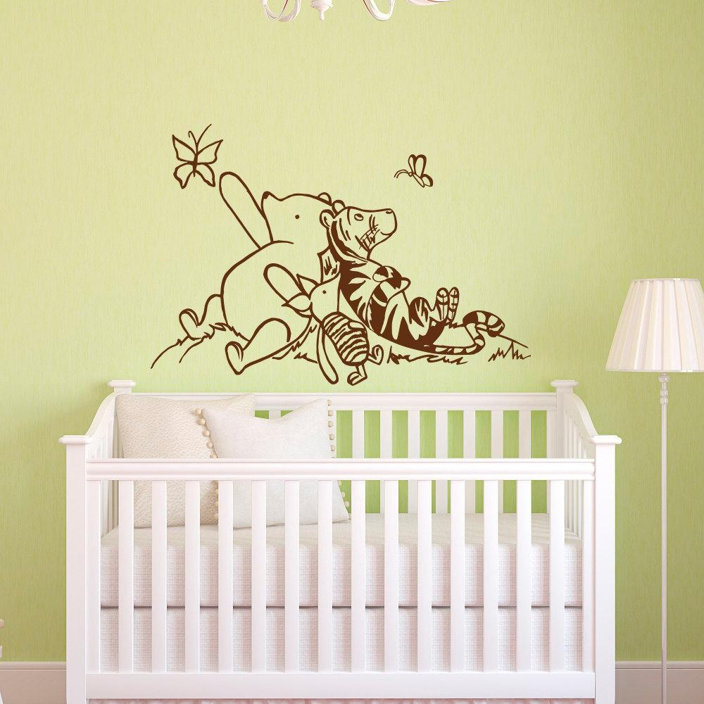 Winnie The Pooh Wall Decals Nursery Classic Winnie The Pooh Regarding Winnie The Pooh Wall Art For Nursery (View 5 of 20)