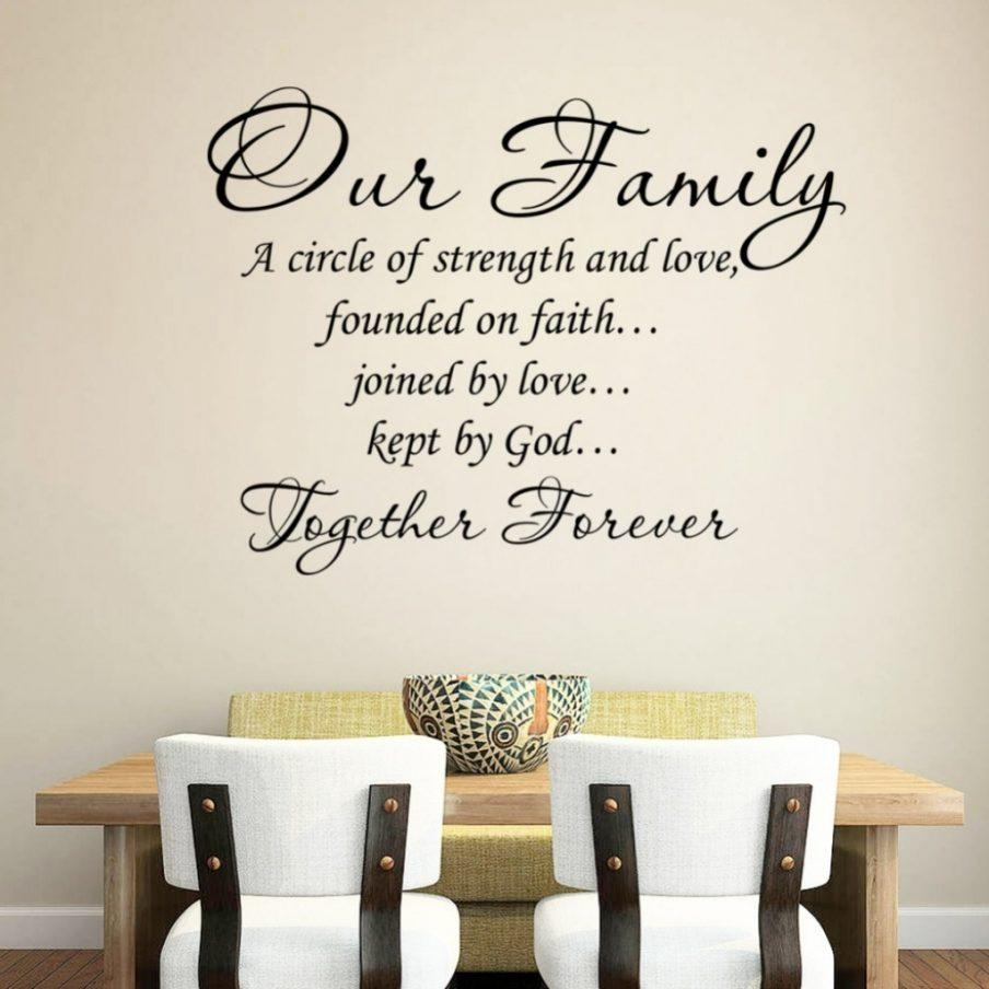Winsome Family Wall Art Decal Creative Family Rules Quote Canvas With Wooden Words Wall Art (Image 18 of 20)