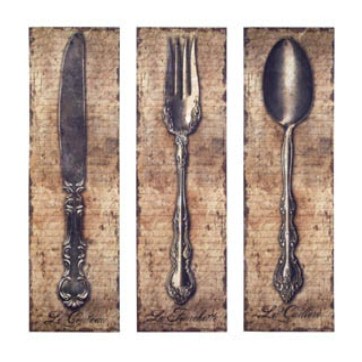 Winsome Large Knife Fork And Spoon Wall Decoration 2 Oversized With Regard To Oversized Cutlery Wall Art (View 3 of 20)
