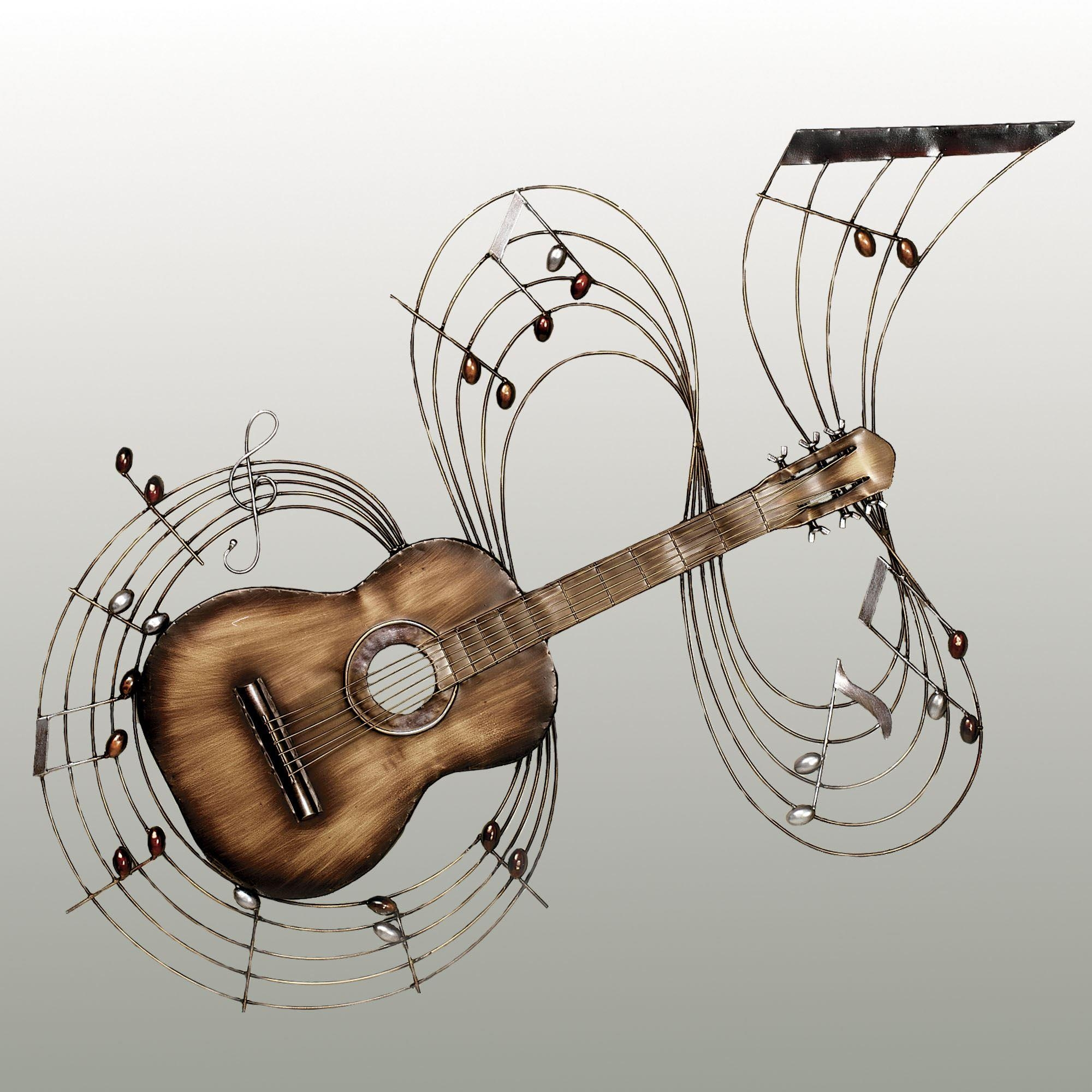 Within The Music Guitar Metal Wall Art Inside Music Note Wall Art Decor (Image 20 of 20)