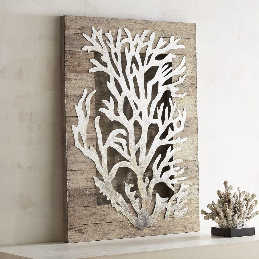 Wonderful Coral Framed Wall Art Coral And Gold Nursery Design For Sea Fan Wall  Art (