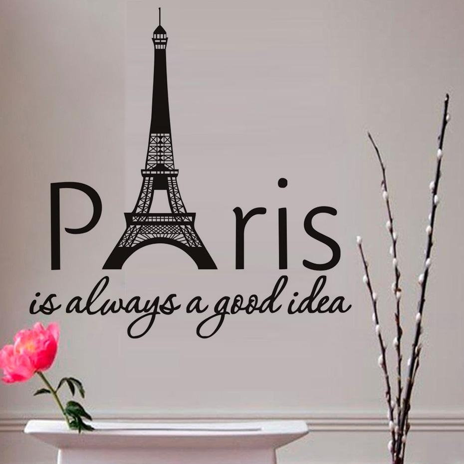 Wonderful Paris Decals Wall Art Paris Eiffel Tower Wall Design For Eiffel Tower Wall Hanging Art (View 18 of 20)