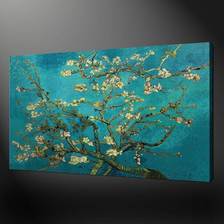 Wonderful Teal Flower Canvas Art Large Wall Art Blue Graham Throughout Large Teal Wall Art (View 2 of 20)