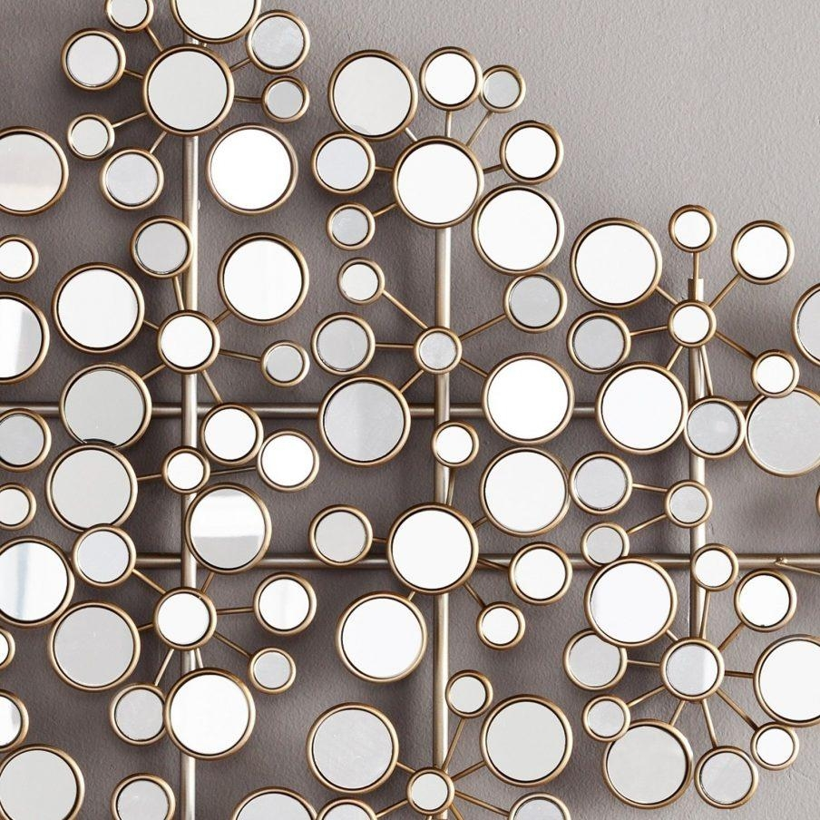 Wonderful Wall Ideas Modern Silver Mirror Circle Contemporary Intended For Mirrors Modern Wall Art (Image 20 of 20)