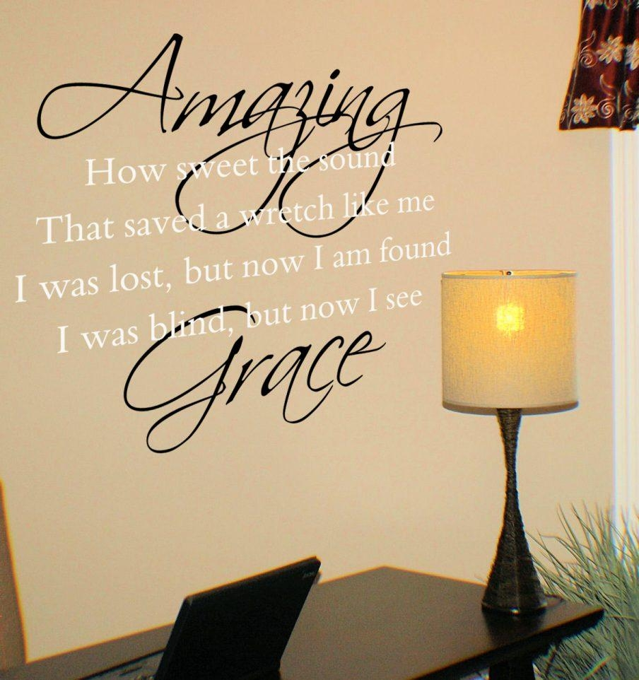 Wondrous Amazing Grace Wall Art Wooden Sign Amazing Grace Wall Pertaining To Grace Wall Art (View 18 of 20)