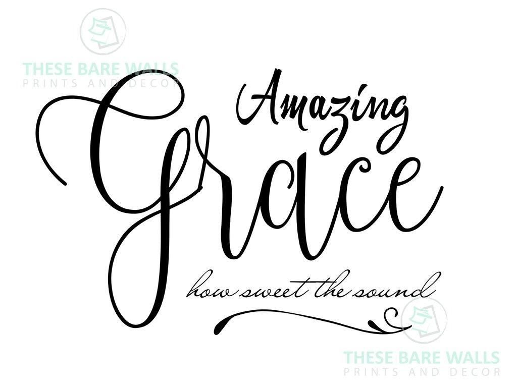 Wondrous Amazing Grace Wall Art Wooden Sign Amazing Grace Wall With Grace Wall Art (View 16 of 20)
