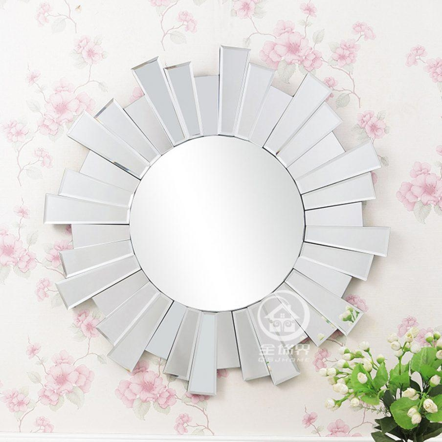 Wondrous Mini Circle Wall Mirrors Metal Framed Round Wall Large Intended For Small Round Mirrors Wall Art (Image 20 of 20)