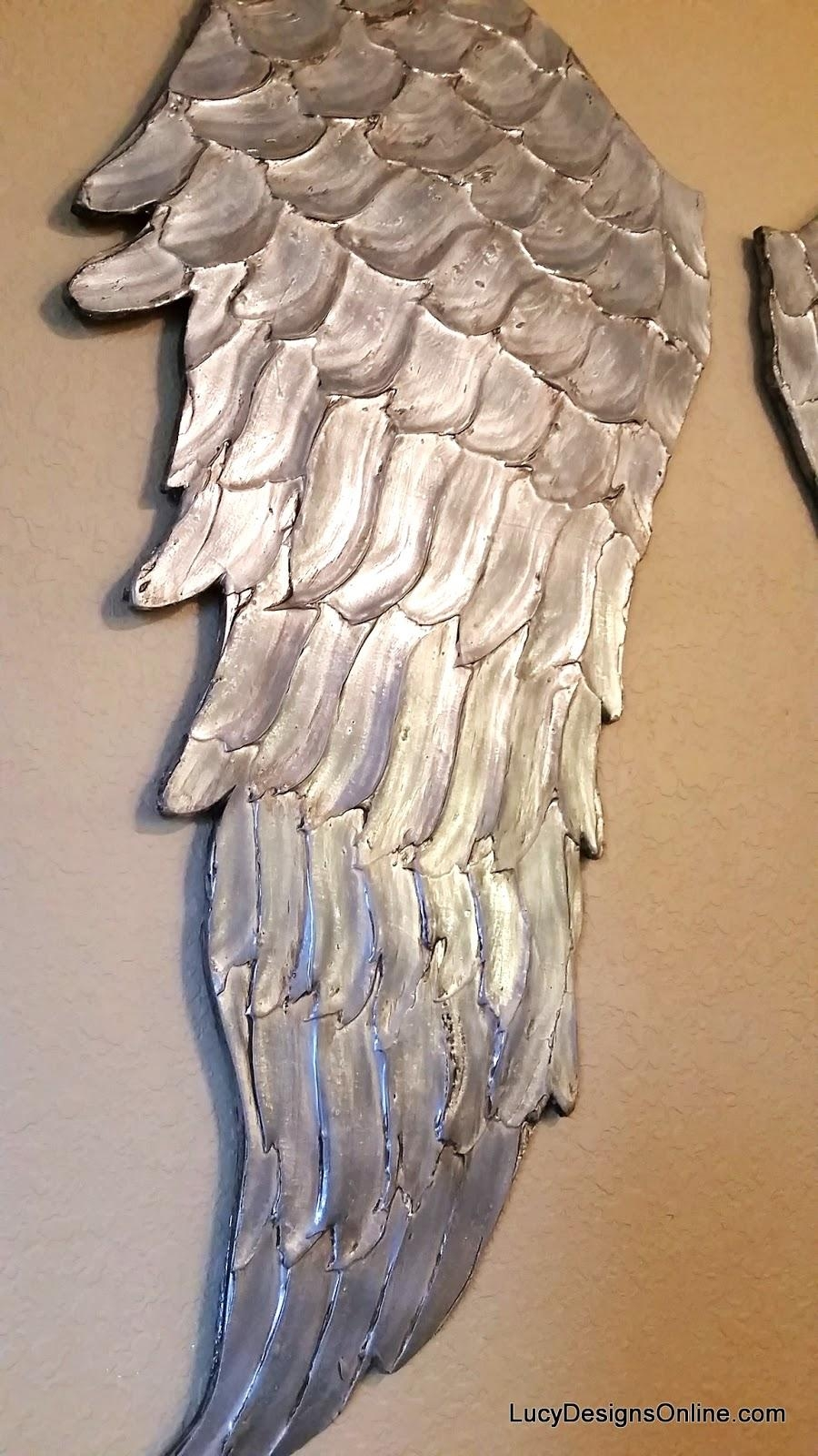 Wood Angel Wings Wall Art, Large Carved Look Wooden Angel Wings In Angel Wings Wall Art (Image 19 of 20)