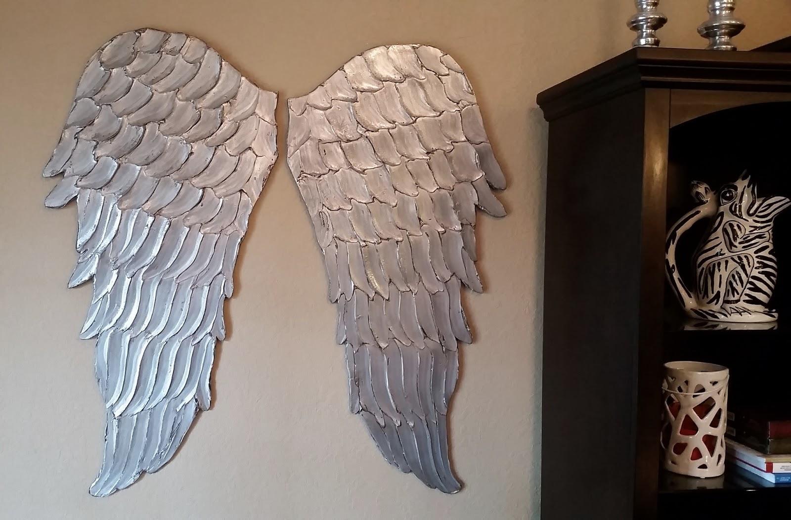 Wood Angel Wings Wall Art, Large Carved Look Wooden Angel Wings In Angel Wings Wall Art (View 4 of 20)