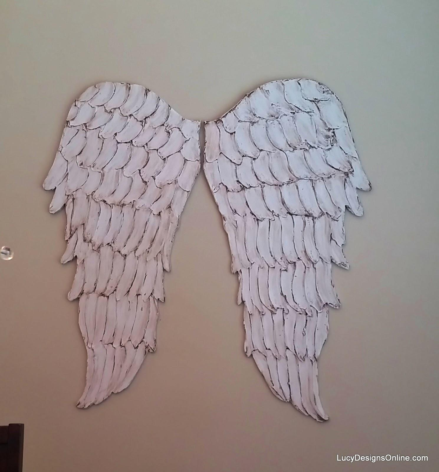 Wood Angel Wings Wall Art, Large Carved Look Wooden Angel Wings Regarding Angel Wings Wall Art (Image 20 of 20)
