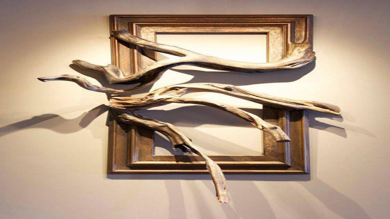Wood Frame With Grafted Manzanita Branch ·▭· · ··· – Youtube For Natural Wood Wall Art (View 10 of 20)