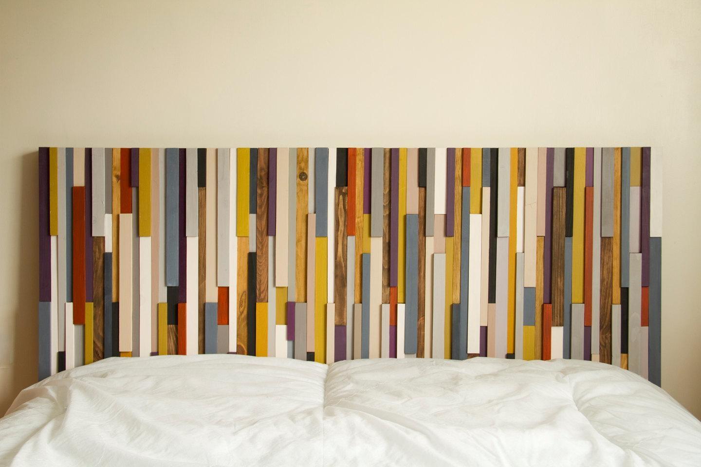 "Wood Wall Art 3D, Wood Sculpture, 24"" X 64"", Painted Wood Pieces Regarding Aubergine Wall Art (Image 20 of 20)"