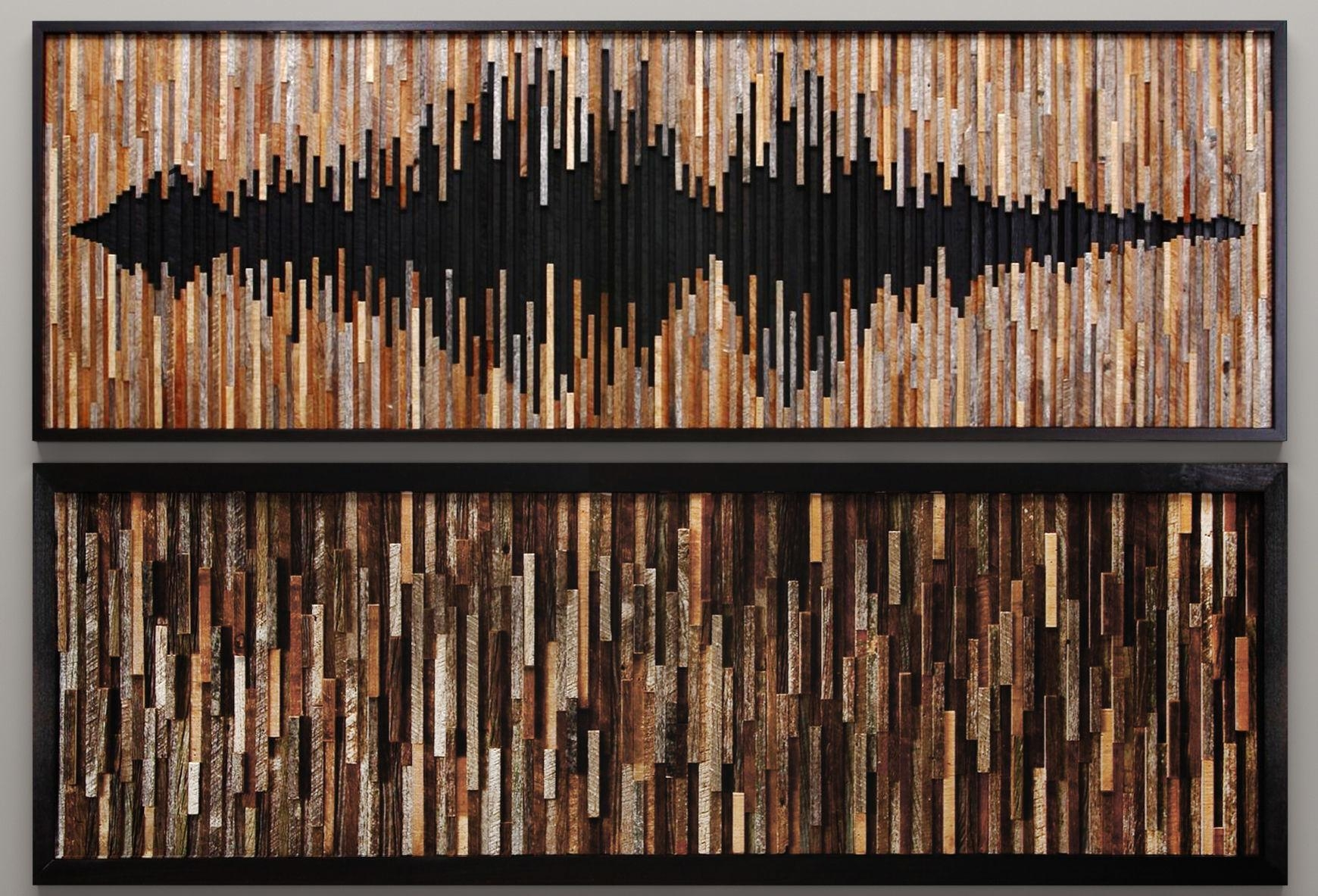 Wood Wall Art 46 3D Model | Cgtrader With Wall Art On Wood (View 17 of 20)