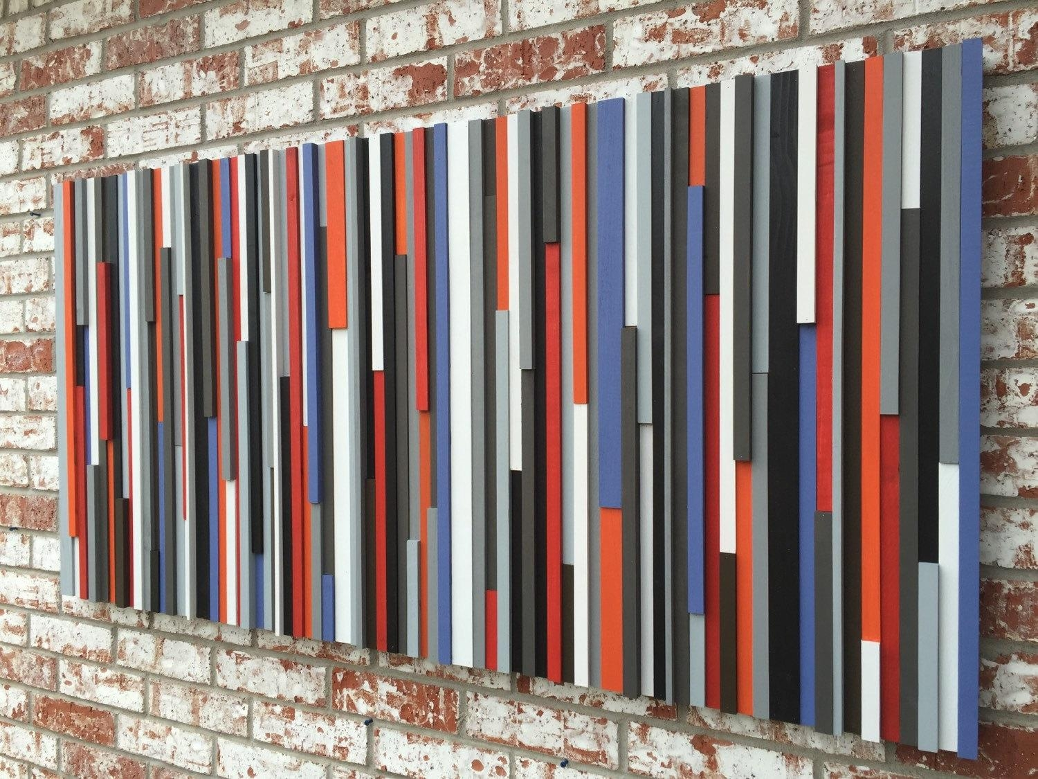 Wood Wall Art Reclaimed Wood Art Queen Headboard Wood In Dark Wood Wall Art (View 15 of 20)