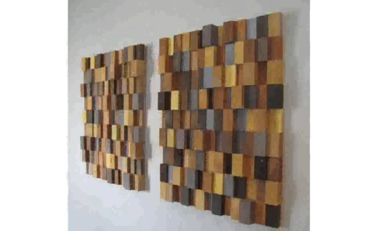 Wooden Wall Art – Youtube Intended For Wood Wall Art (Image 20 of 20)