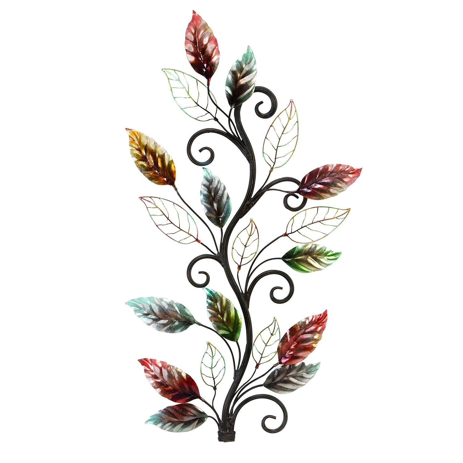 Woodland Imports 13412 Metal Floral Branch Wall Decor In Throughout Metal Wall Art Trees And Branches (Image 20 of 20)