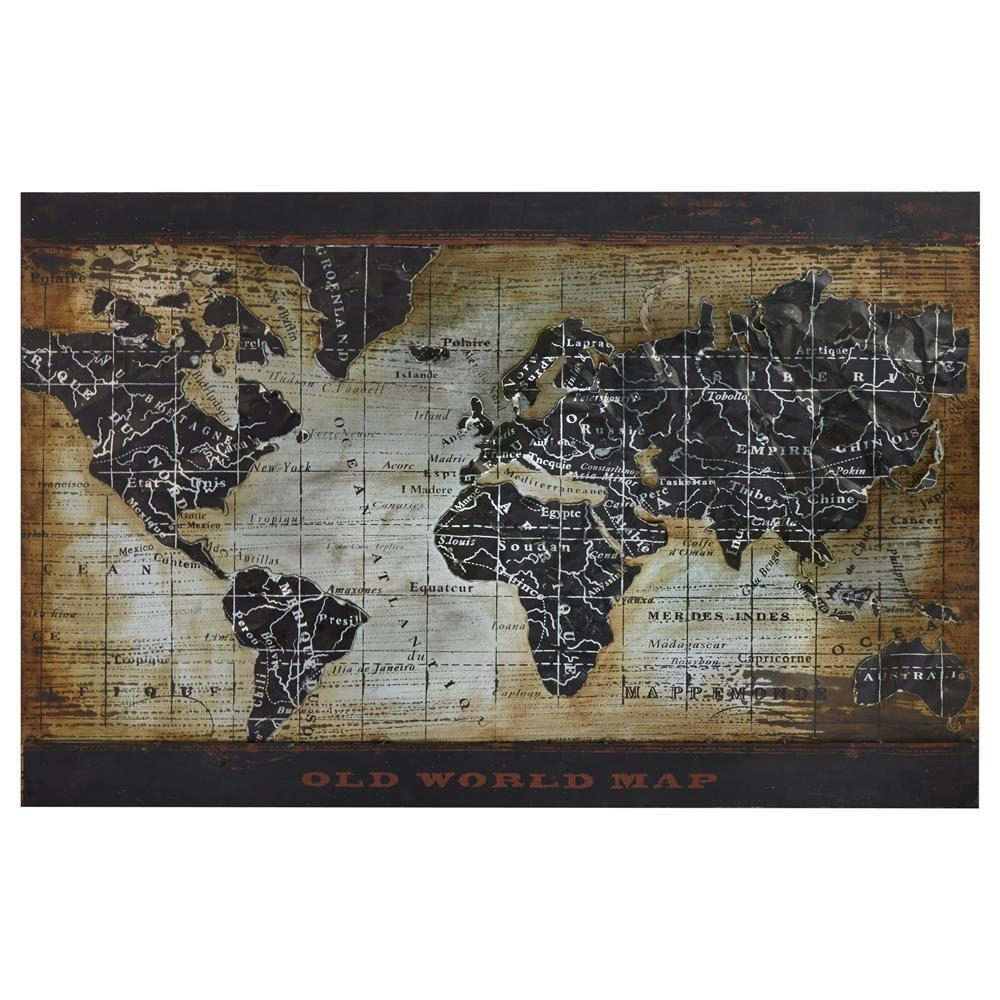 World Map Art Framed – Regn With Framed World Map Wall Art (View 2 of 20)