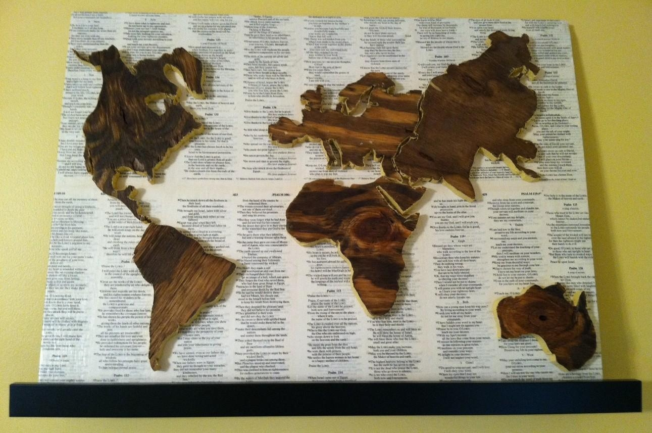 World Map | Studio{1859} Pertaining To Wooden World Map Wall Art (View 20 of 20)