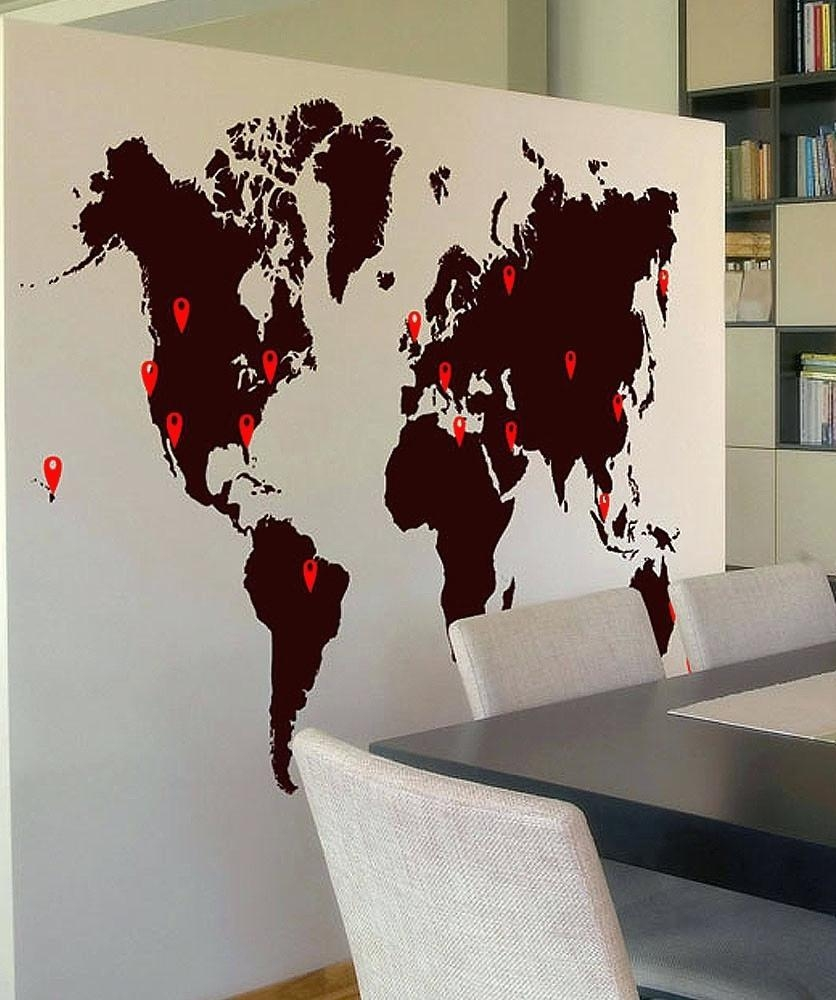 World Map Wall Art – Bookpeddler With Groupon Wall Art (View 8 of 20)