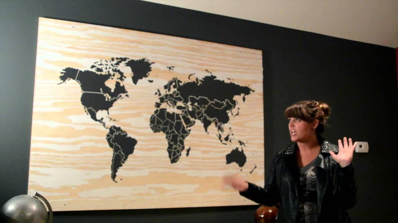World Map Wall Art Spiritual Vintage Carved Wood Map His And Map Inside Wooden World Map Wall Art (View 11 of 20)