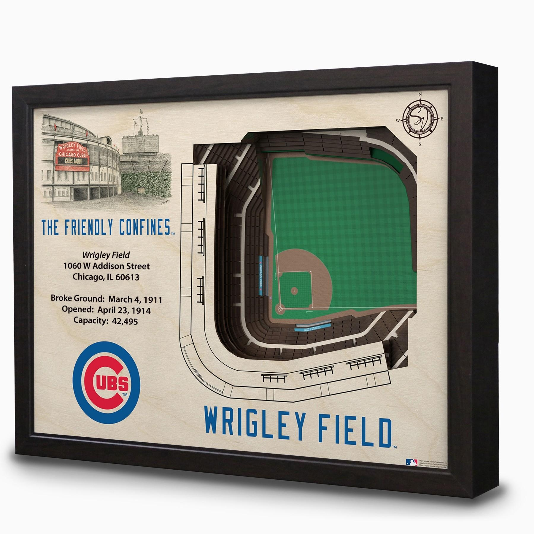 Wrigley Field 3D Stadium Wall Art   Chicago Tribune Store Within Electronic Wall Art (Image 20 of 20)