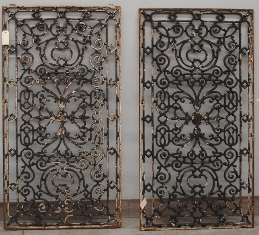 Wrought Iron Decorative Wall Panels Black Wrought Metal Gate Pertaining To Metal Gate Wall Art (Image 19 of 20)