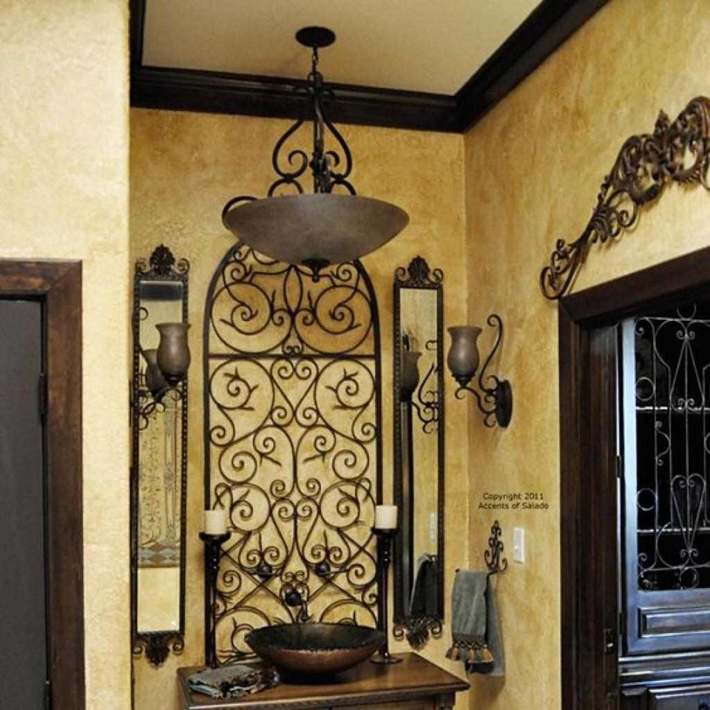 Wrought Iron Wall Decor Adds Elegance To Your Home Wrought Iron Throughout Iron Gate Wall Art (Image 19 of 20)