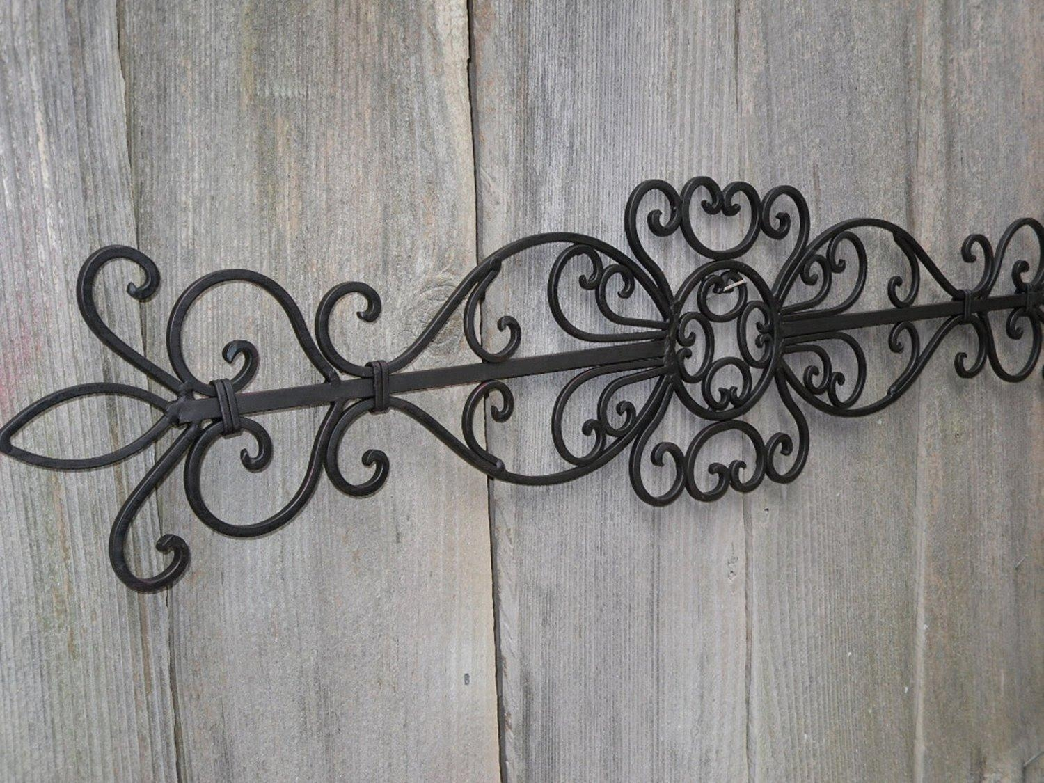 Wrought Iron Wall Decor # Wrought Iron Wall Art Decor – Youtube Throughout Wrought Iron Garden Wall Art (Image 19 of 20)