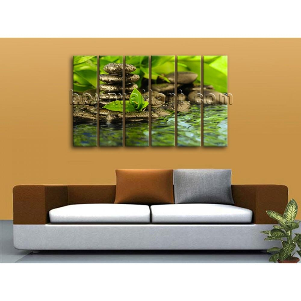 X Large Contemporary Feng Shui Zen Wall Art Canvas Print Within Feng Shui Wall Art (Photo 3 of 20)