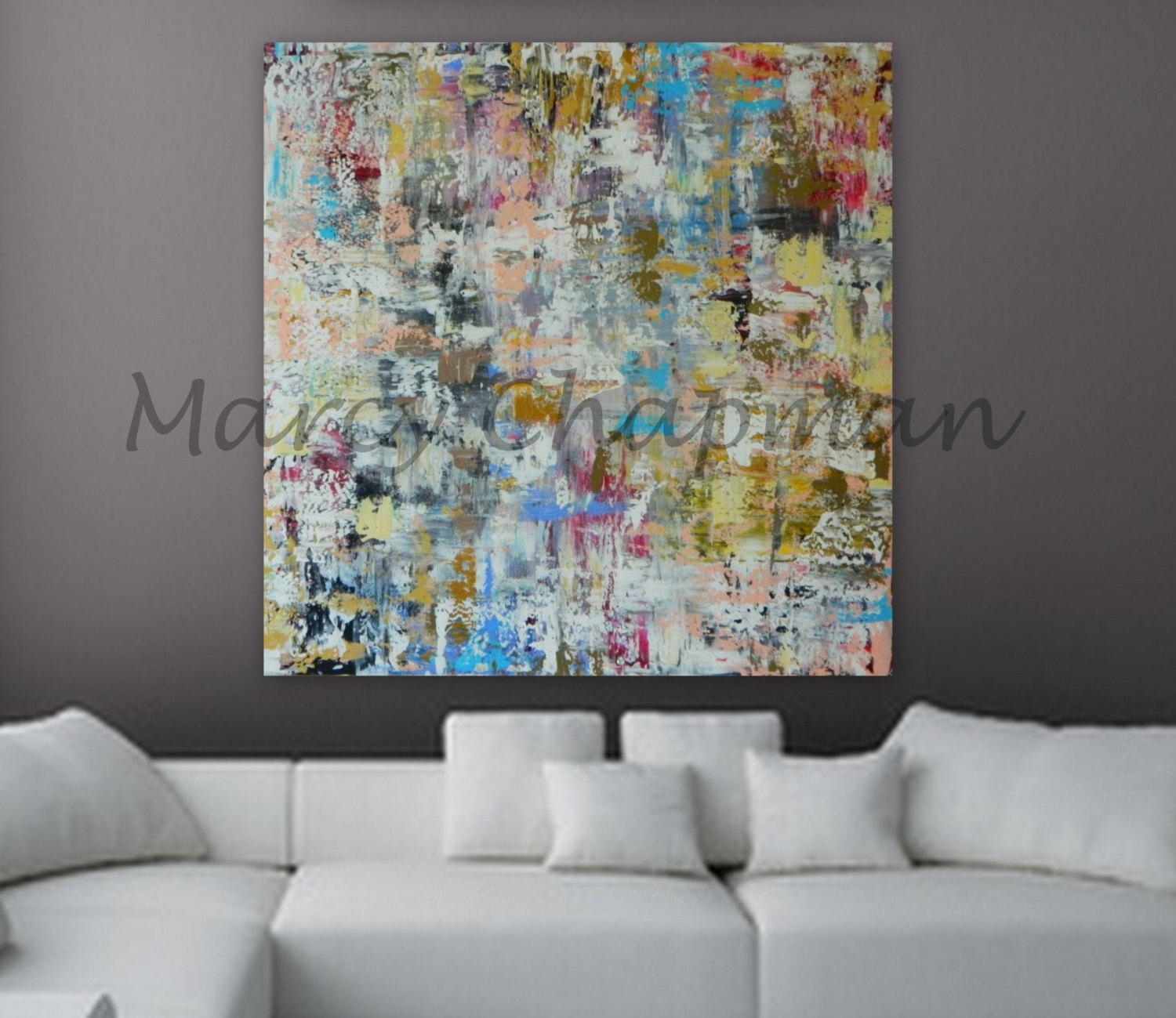 Xl, Large, Huge Abstract Painting 46 X 46 Unstretched Canvas Intended For 48X48 Canvas Wall Art (View 8 of 20)