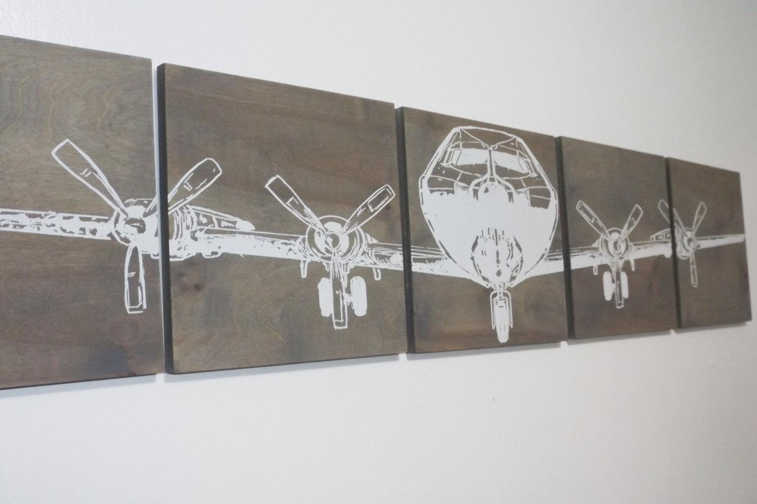Xl Military Aviation Art 16X 80 Vintage Ww2 Plane Airplane Extra inside Large Vintage Wall Art