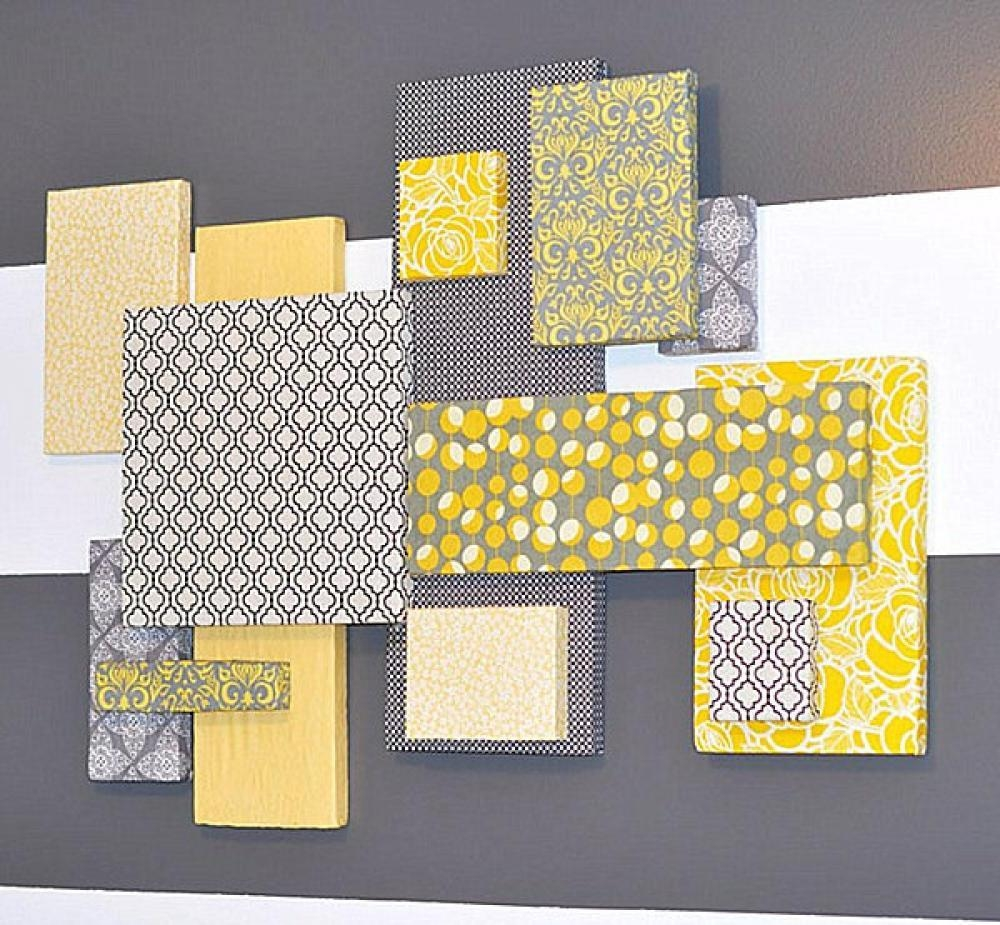 Yellow Wall Decor | Roselawnlutheran Regarding Yellow Grey Wall Art (View 6 of 20)