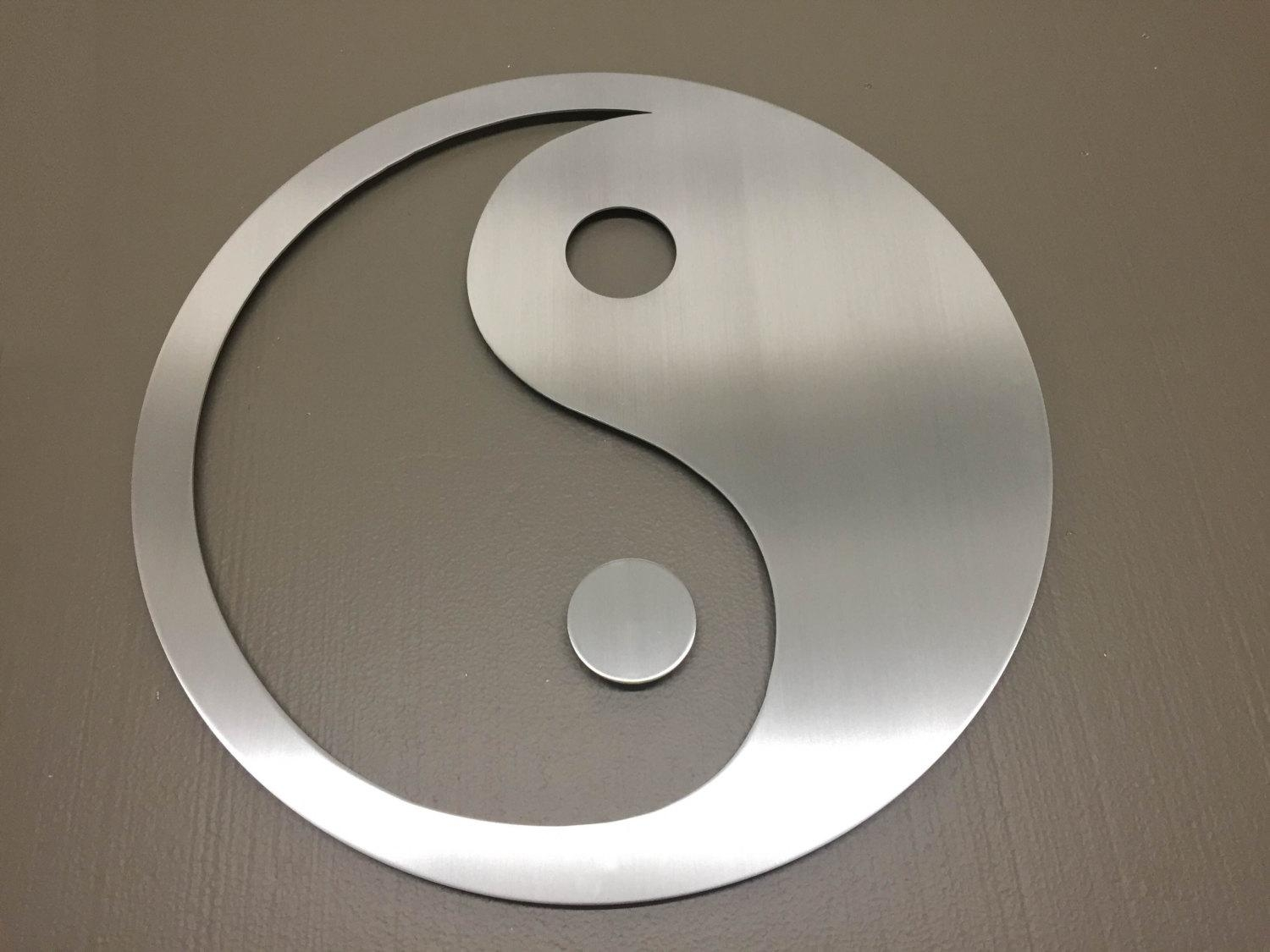 Yin Yang Metal Wall Art Wall Art Metal Wall Decor Metal inside Yin Yang Wall Art
