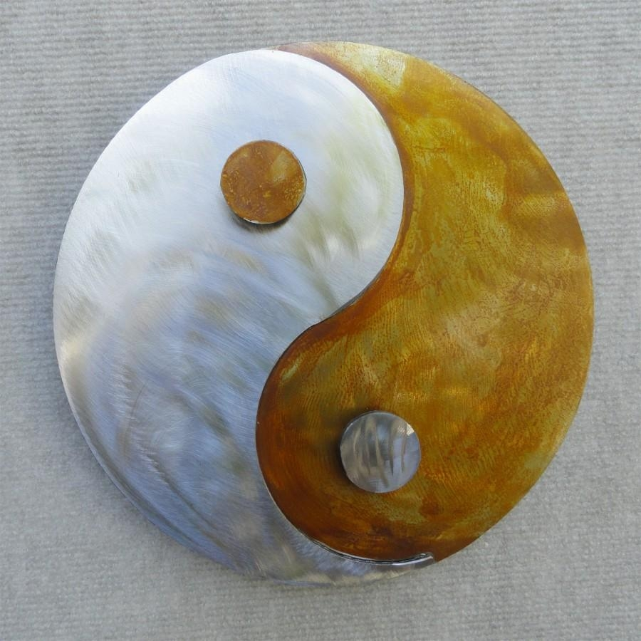 Yin-Yang Metal Wall Art | within Yin Yang Wall Art