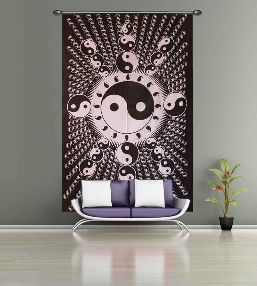Yin Yang Tapestries & Yin Yang Dragon Wall Hangings within Yin Yang Wall Art