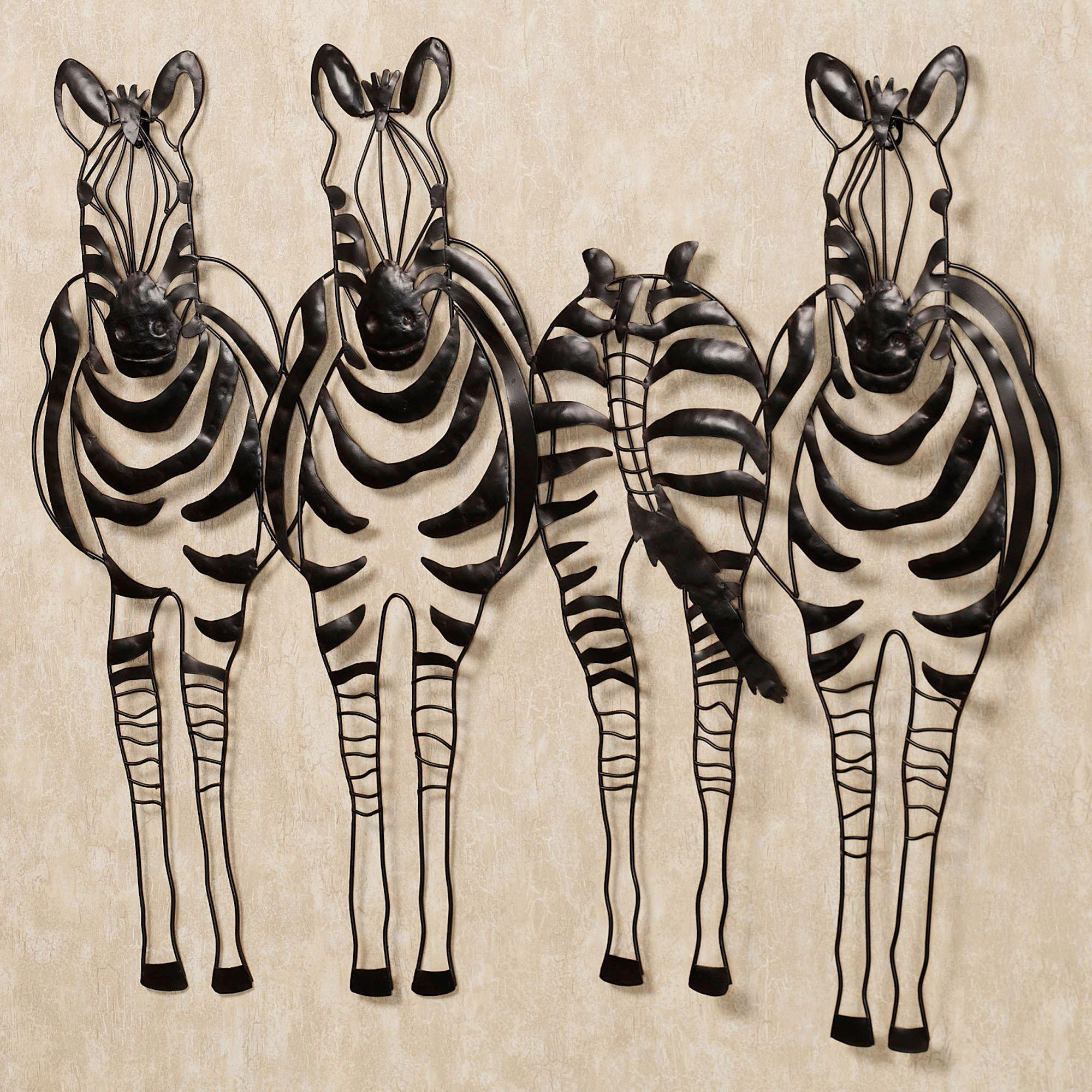 You Go Your Way Zebra Metal Wall Sculpture Art regarding African Metal Wall Art