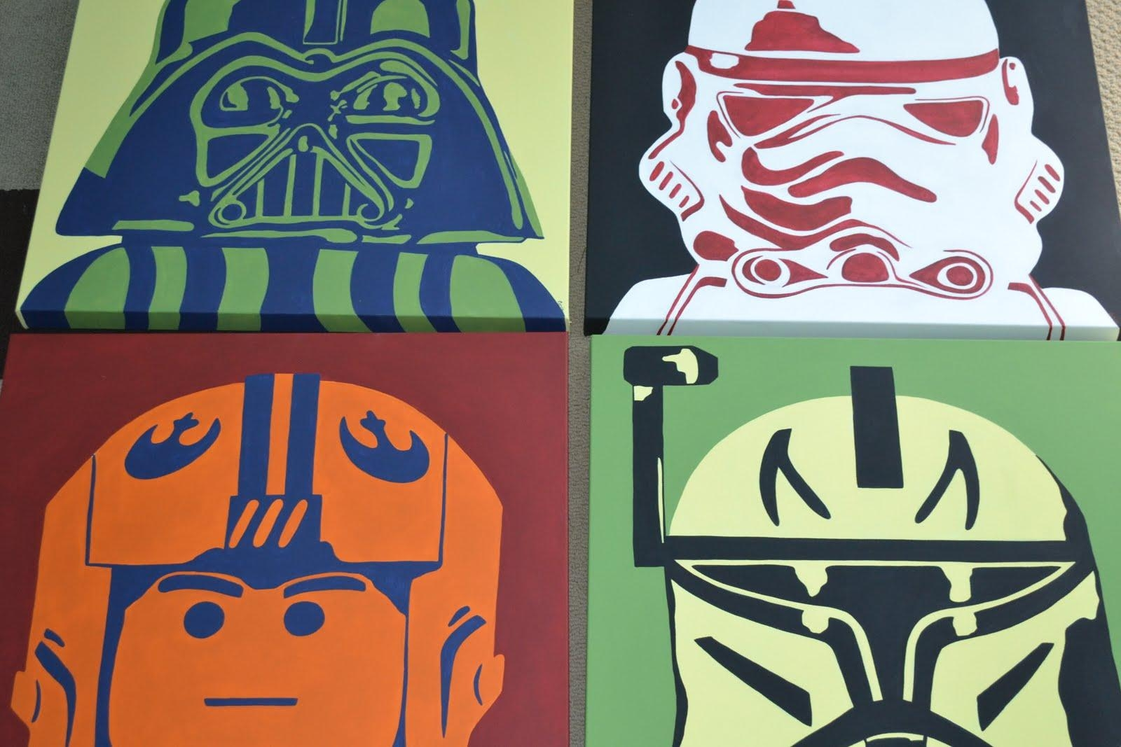 You're Artcorie Kline: Star Wars Legos Pop Art pertaining to Lego Star Wars Wall Art