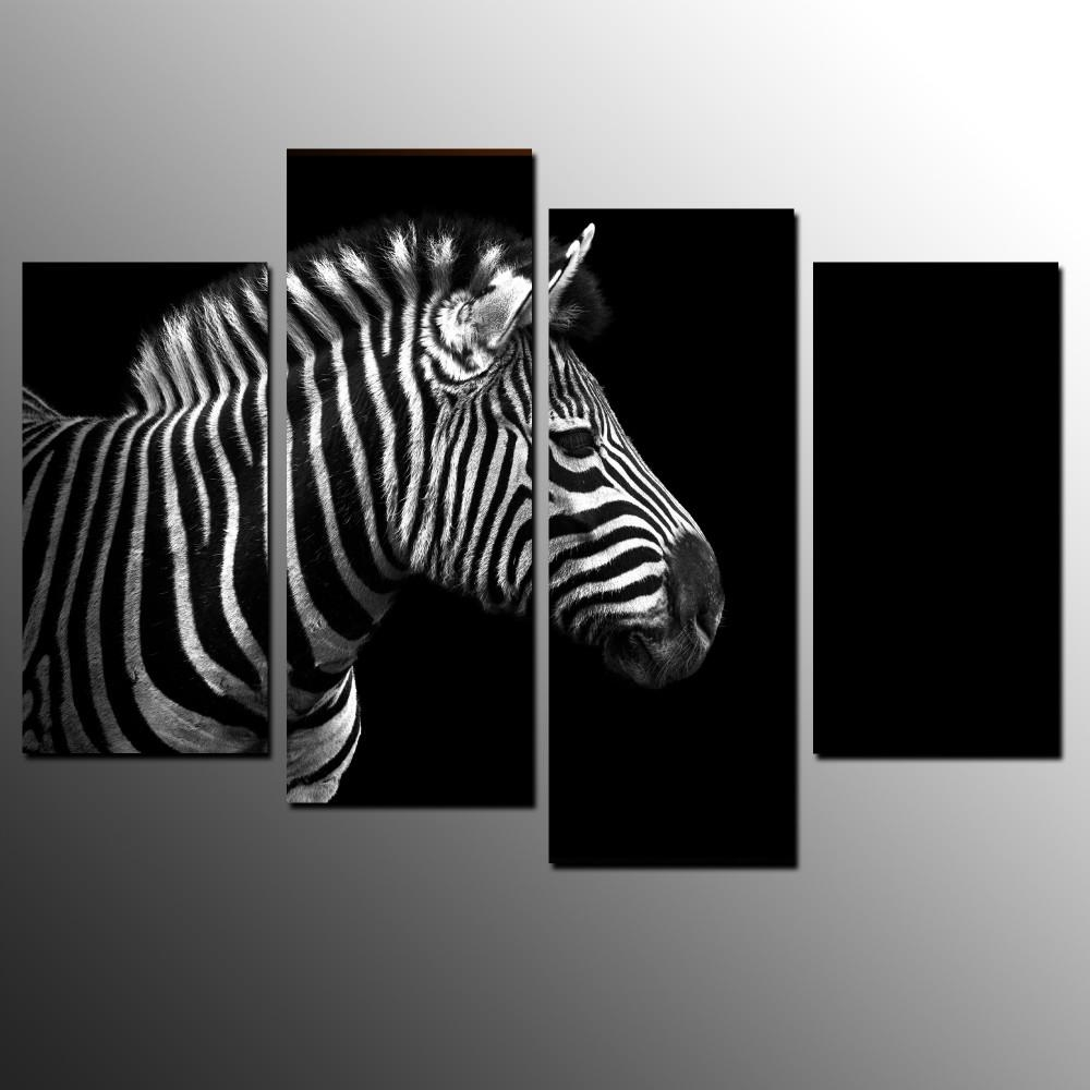 Zebra Wall Art Canvas Promotion Shop For Promotional Zebra Wall Inside Zebra Wall Art Canvas (Image 17 of 20)
